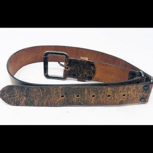 Banana Republic Accessories - BANANA REPUBLIC Distressed Italian Leather Belt-L